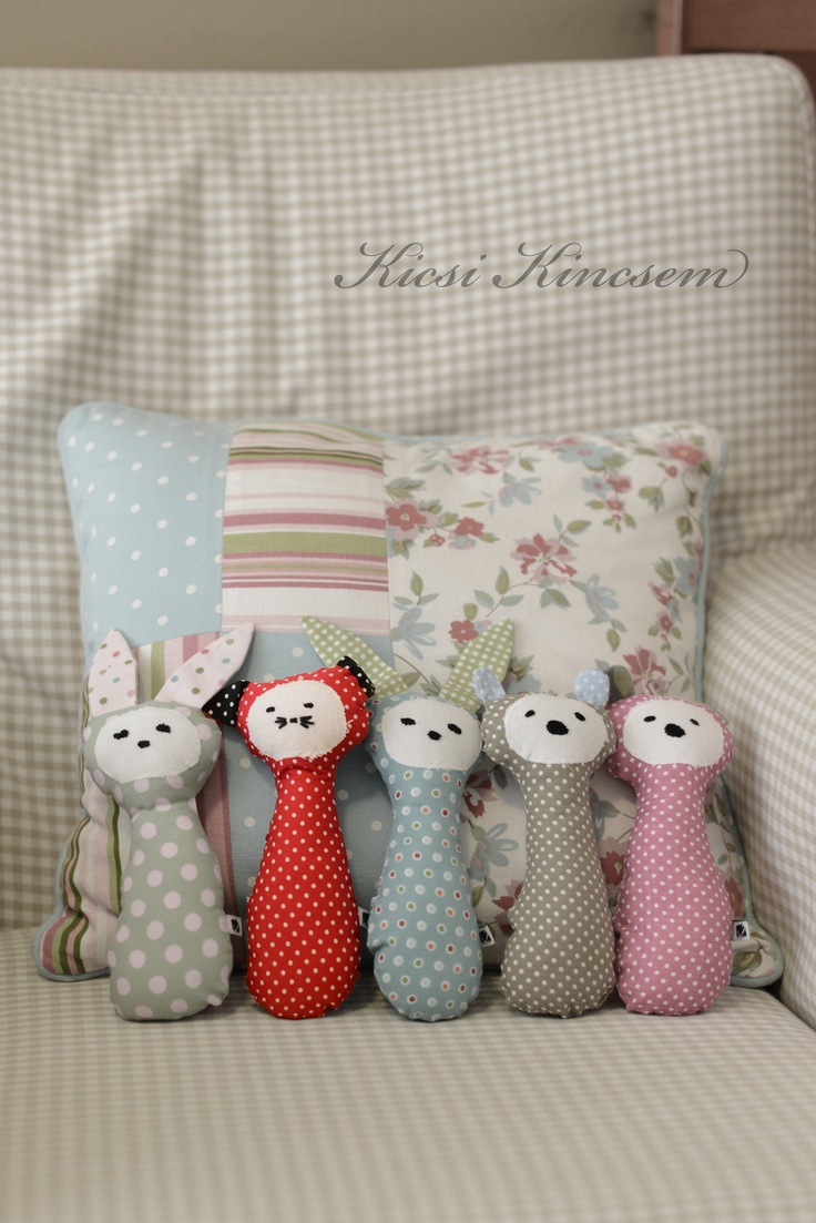 textile toys made by Kicsi Kincsem