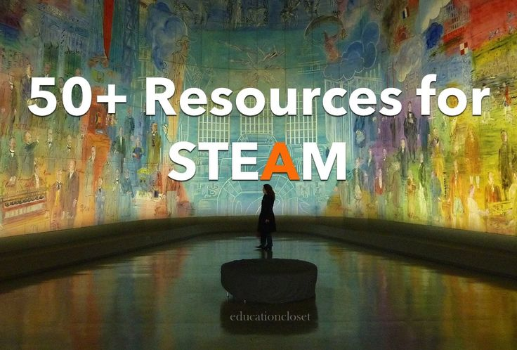 "Finding resources for #STEAM integration that are of high quality can be a daunting task. Here's a ""go-to"" list for STEAM websites, apps and books. From http://educationcloset.com"