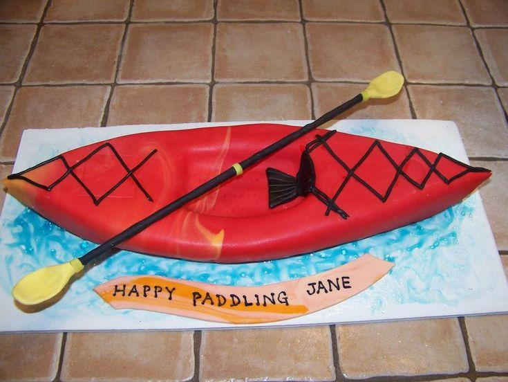 Kayak Cake  on Cake Central