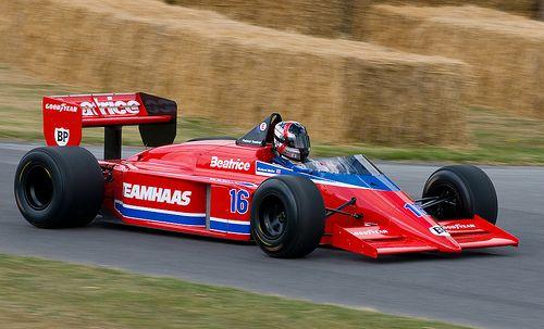Lola Haas THL 2 Ford Cosworth GBA (V6-1,5L TC )-'86 -#16 Patrick Tambay (Fra )- Team Haas USA Ltd.