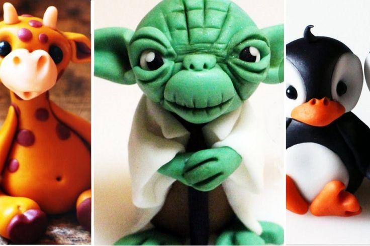 Voici 8 tutoriels pour vous aider à modeler de mignons personnages en pâte Fimo ou pâte à sucre! (fondant)