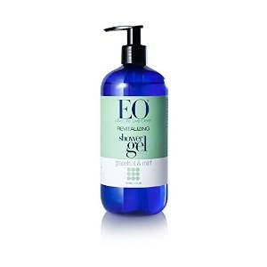 EO Shower Gel, Grapefruit & Mint, 16-Ounce Bottles (Pack of 2)  Reformulated with key active ingredients to pamper  Vegetable Glycerin, a natural humectant, aids in maintaining optimal hydration  Vitamin A, a powerful antioxidant, improves skin health  Regenerating Complex- Cold-pressed Grapefruit Oil combines with Peppermint to tone and refresh
