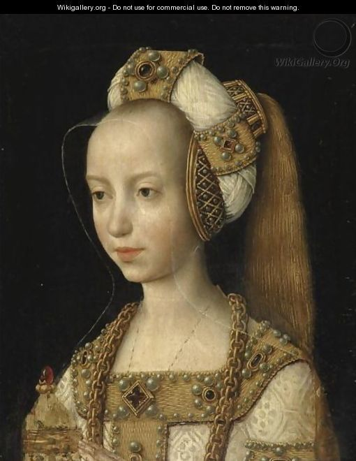 Portrait Of A Young Woman, Probably Mary Of Burgundy - South Netherlandish School