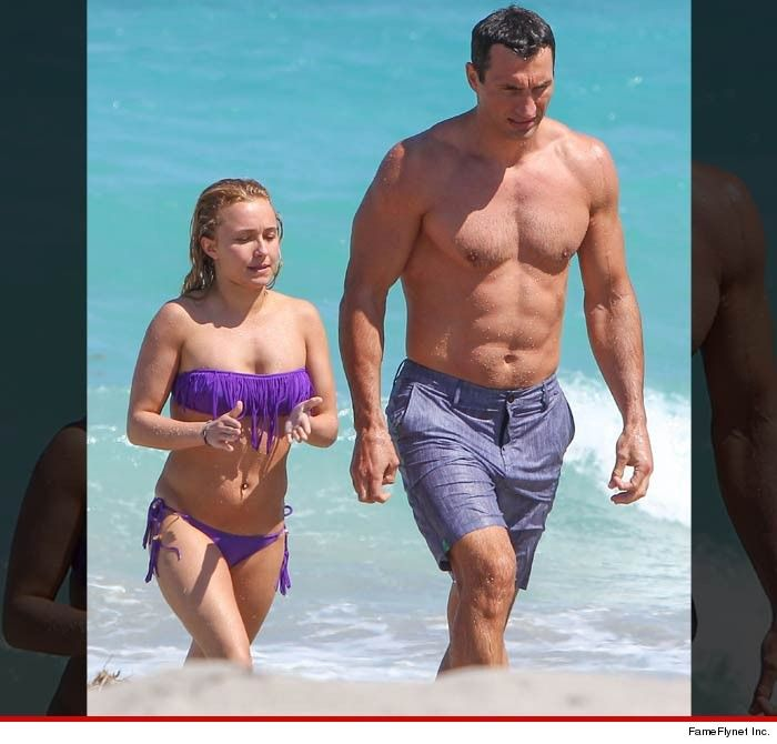 "Hayden Panettier... The ""Nashville"" star was hanging poolside in Hawaii this weekend. The proportions of the 5'0"" actress seem out of whack ... we're guessing that's because her fiance Wladimir Klitschko is a beast ... 6'6"" and weighing in at 243 lbs."