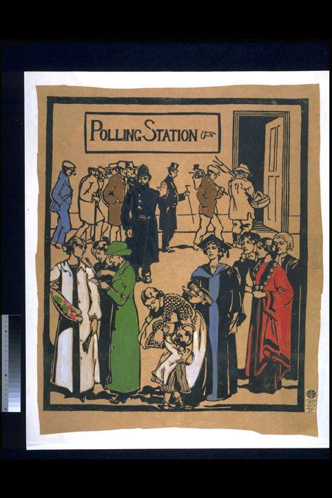 Polling+Station%2c+Unknown+Artist%2c+1909-13