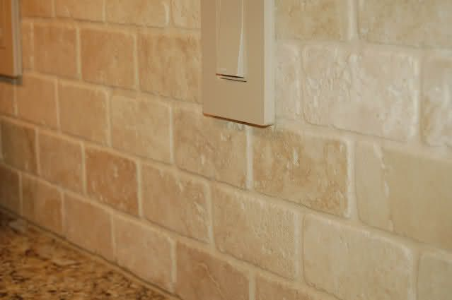 Travertine Stone Backsplash : Best travertine tile backsplash ideas on pinterest