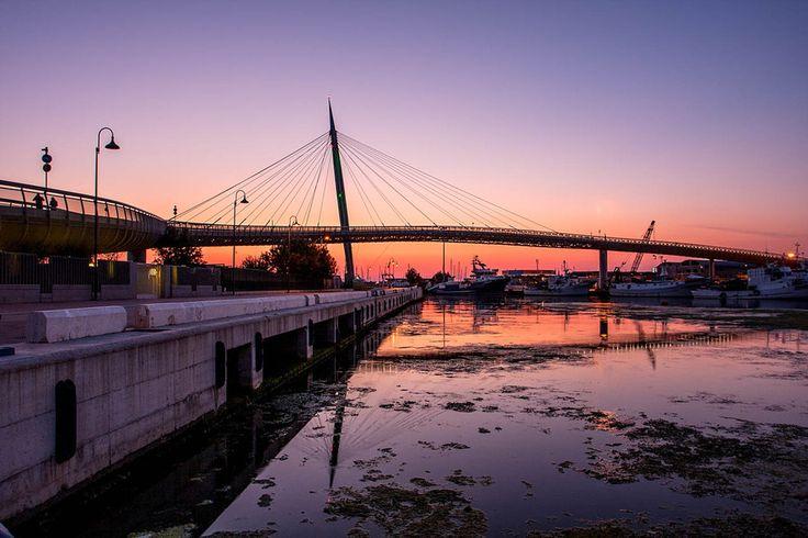 Sunrise over the bridge by Giuseppe Mosca on 500px Pescara, Italy,Abruzzo, Ponte del Mare