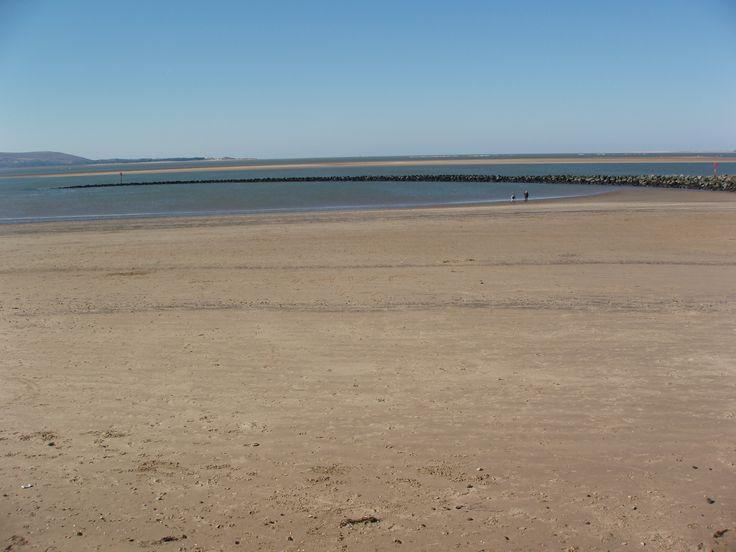 llanelli beach on a sunny day.