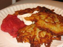 Potato Latkes (Jewish Potato Pancakes) - Gluten-Free. Photo by What's Cooking?