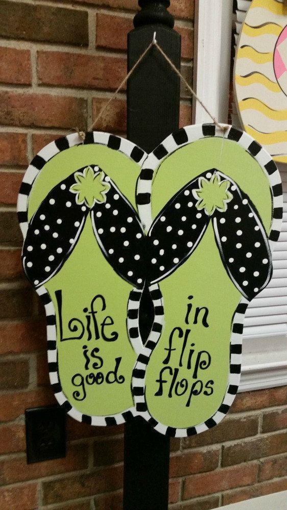 Flip Flops door hanger by SCWoodWorkArt on Etsy