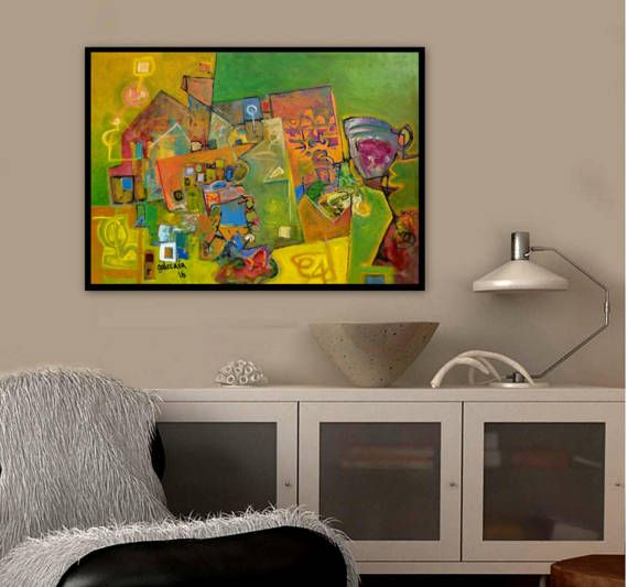 Original Abstract Painting Large Contemporary by PaintingsGalceava