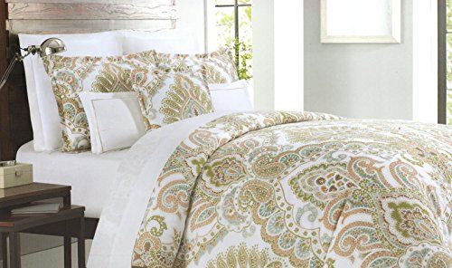Cynthia Rowley 3pc Full Queen Cotton Duvet Cover Set