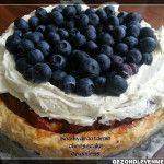 Recept voor koolhydraatarme cheesecake zonder korst , ook wel crustless cheesecake genoemd.