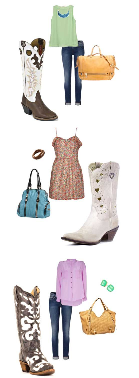 White cowboy boots are eye-catching, sexy and feminine. See how we impact style with these beautiful cowboy boots. | Country Outfitter