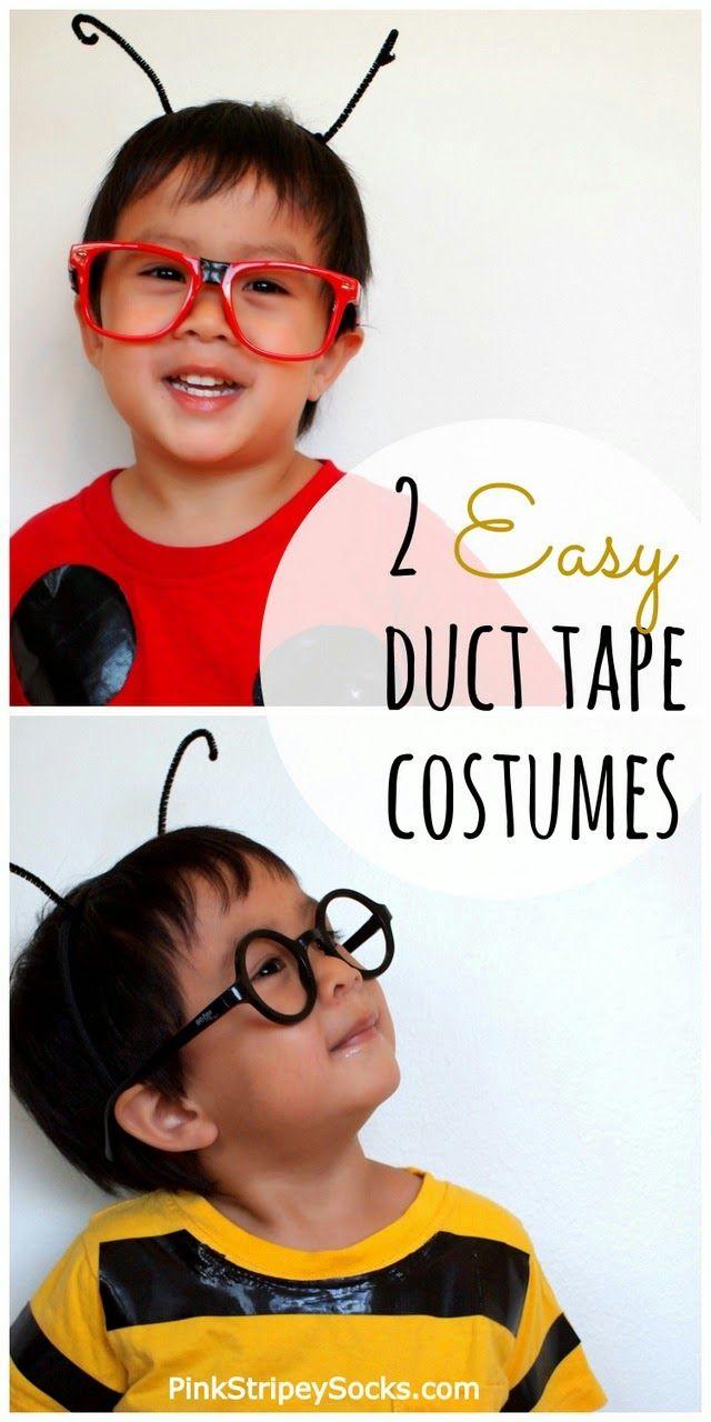 2 Super Easy Last Minute Bug Halloween Costumes made using Duct Tape!  #halloweencostumes