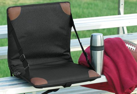 Heated Massaging Stadium Seat - where was this the last four years of watching color guard? Oh and all the soccer games before that!