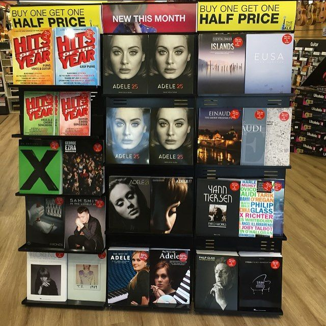 Hello it's here! Adele 25 album sheet music has now arrived in your local Musicroom store. #adele #adelehello #bestofbritish #new #sheetmusic #piano #vocal #guitar by musicroomuk