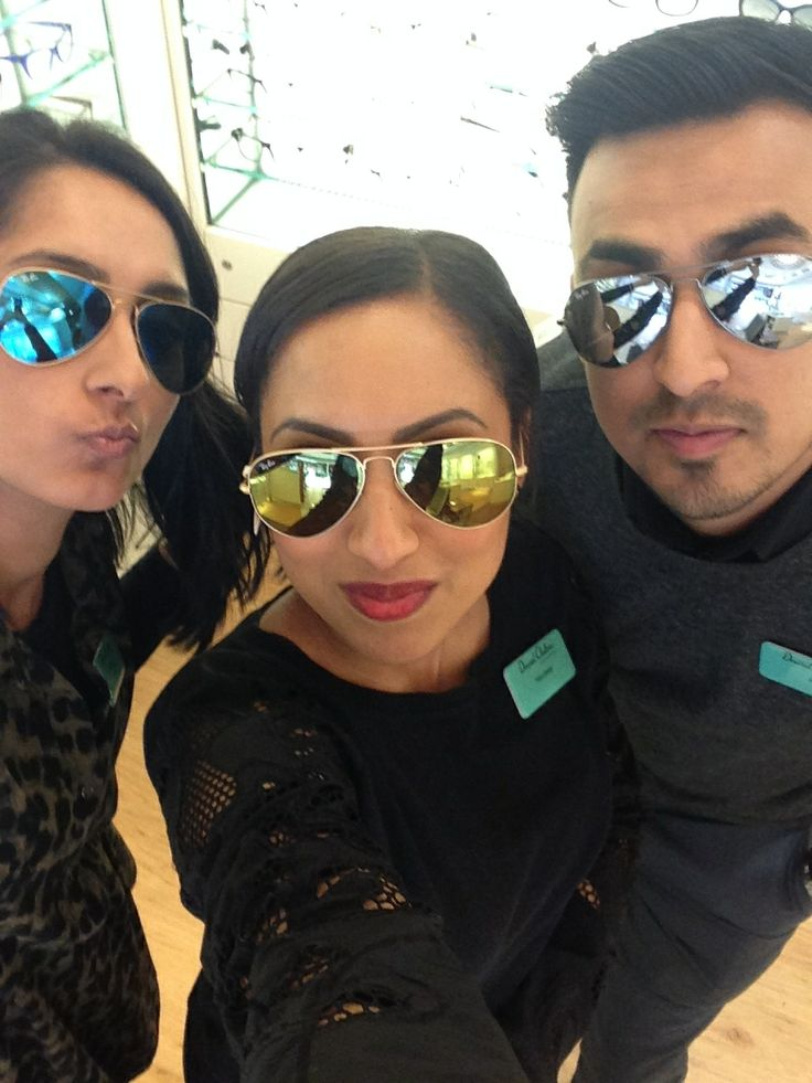 ray ban glasses david clulow  kensington team wearing ray ban mirrored lenses!