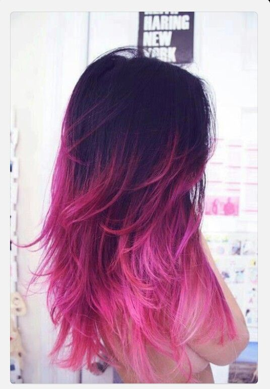 I seriously love this color hair dip dye