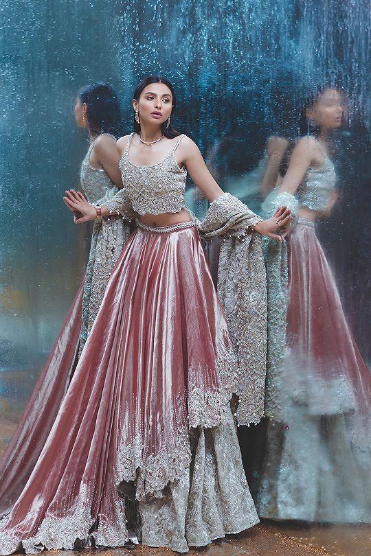 Pakistani wedding dresses red and white fleet