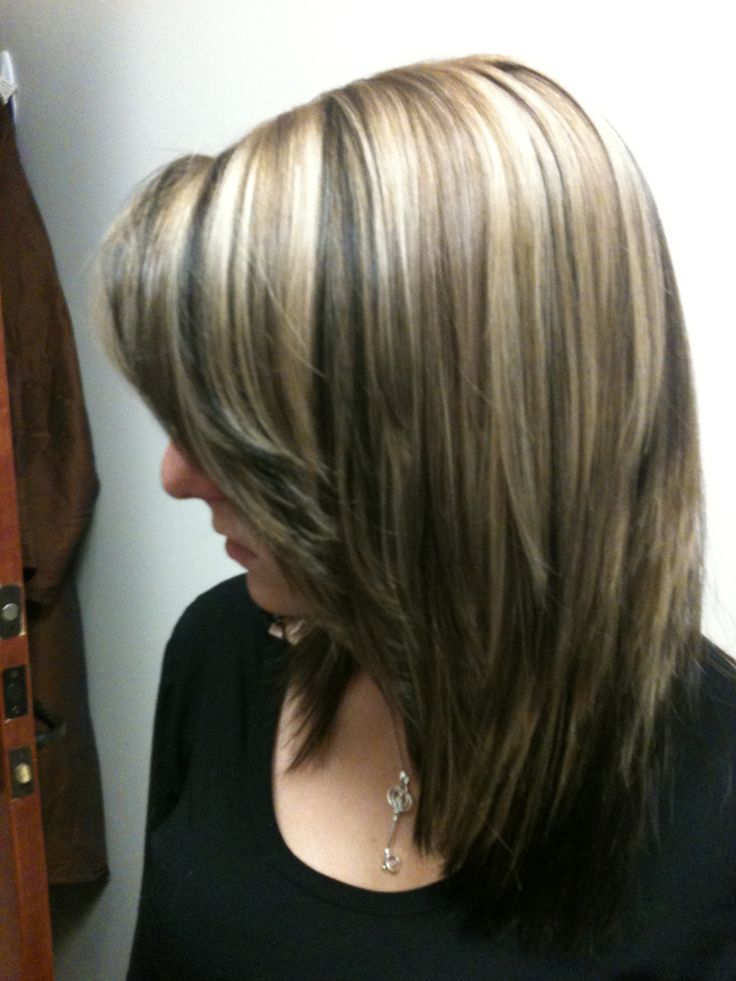 Highlights (blonde with dark lowlights light brown accents ...