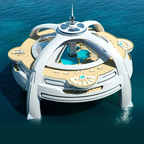 Project Utopia from Firebox.com. Not quite a yacht, but how about a crew hotel, where crew 'between jobs' can hang out?