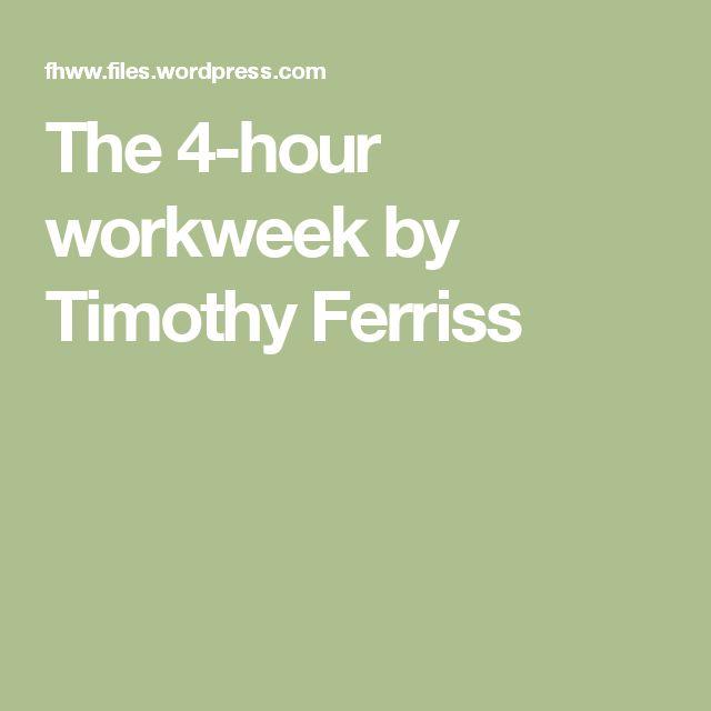 The 4 Hour Workweek By Tim Ferriss Pdf