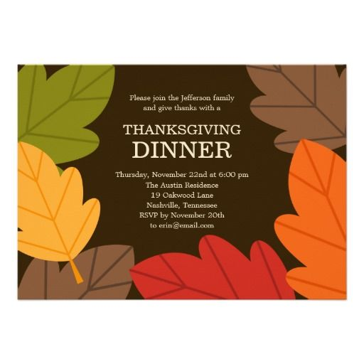 Best Thanksgiving Gathering Invitations Images On