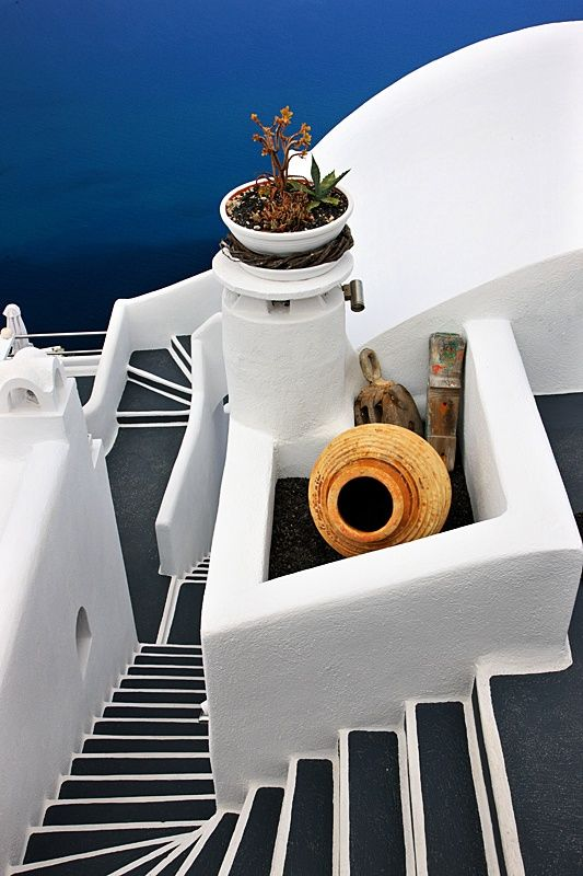 Cycladian Geometry - Santorini, Greece