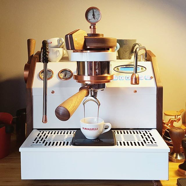 http://www.modelhomekitchens.com/category/Espresso-Maker/ Custom-La-Marzocco-GS3 Having the right machines will be a major part in running your shop. Only get the best.
