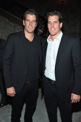 Tyler Winklevoss and Cameron Winklevoss (filed a lawsuit against Mark Zuckerberg and Facebook)