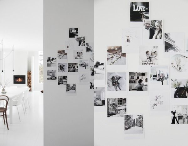 Instagram en polaroid foto's in huis (via Bloglovin.com )