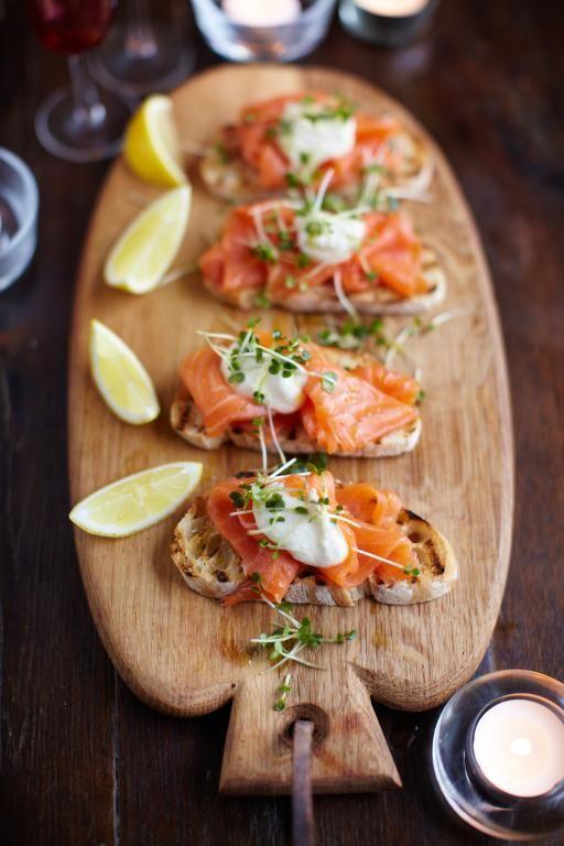 smoked salmon, horseradish & cress toasts Jamie Oliver (UK)