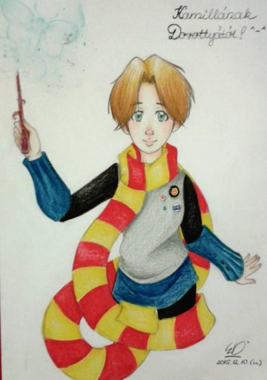 portrait from my best frieds, Kamilla ^u^ <3 Harry Potter feeling, yeey !! ;)