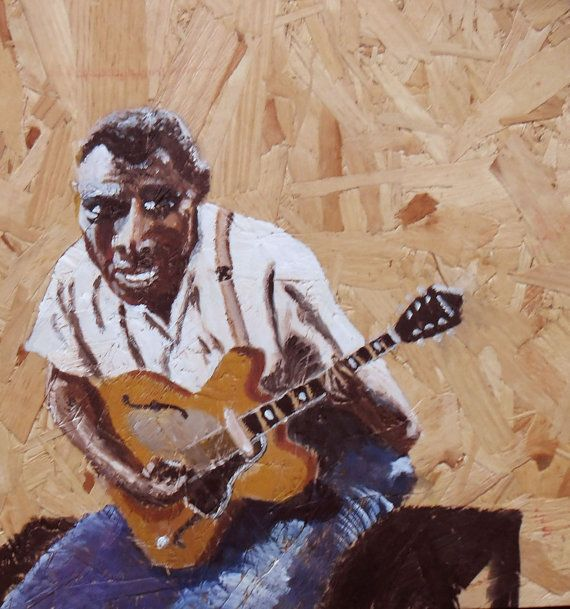 Howlin Wolf Original Painting Blues Singer by JulianLovegroveArt, £60.00