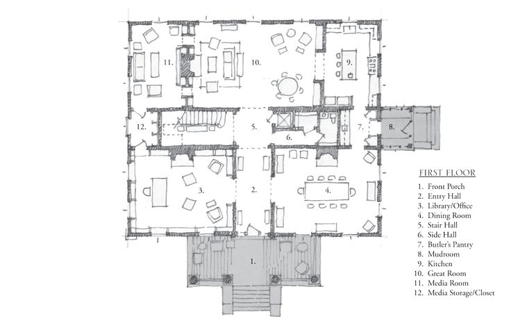 88 best plans images on pinterest floor plans house for Historical concepts architects