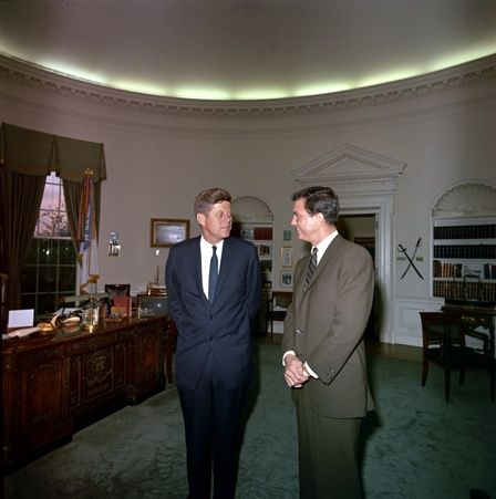 ST-C98-1-63 President John F. Kennedy meets with actor Cliff Robertson