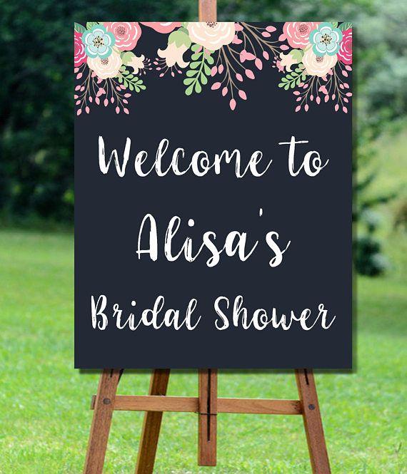 Bridal Shower Welcome Sign, Bridal Shower Sign, Rustic Bridal Shower Sign, Bridal Shower Welcome Sign, Floral Bridal Shower Welcome Sign