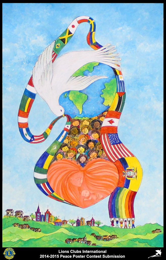 2014-15 Lions Clubs International Peace Poster Competition submission from Portoviejo Lions Club in Ecuador