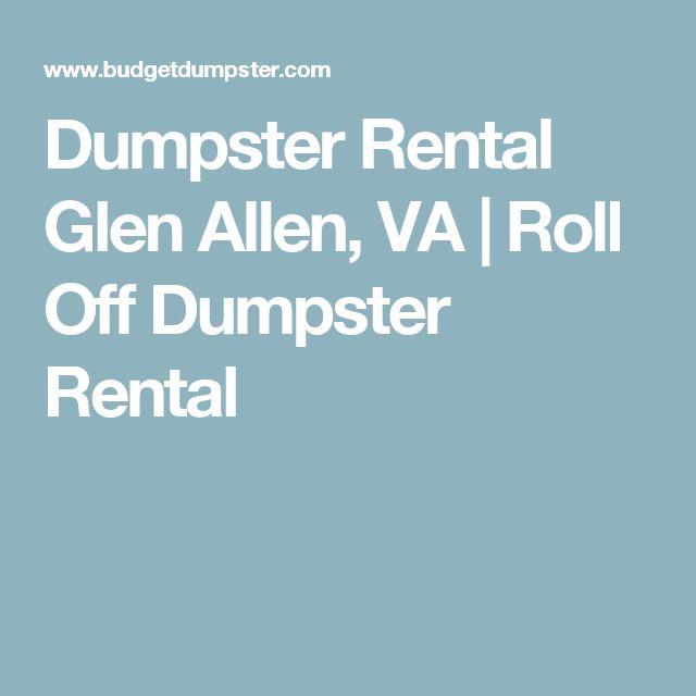 Dumpster Rental Glen Allen, VA | Roll Off Dumpster Rental
