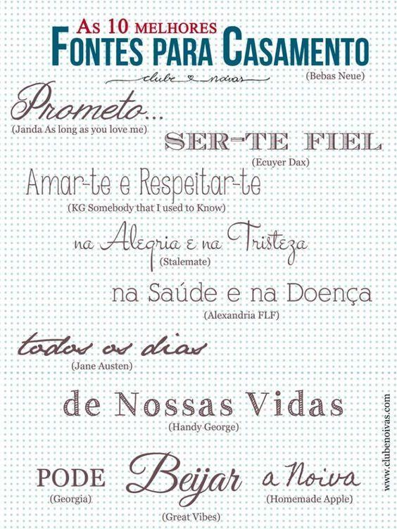 Fontes grátis! Free Fonts  - Clube Noivas  #fontes #fonts   www.clubenoivas.com: