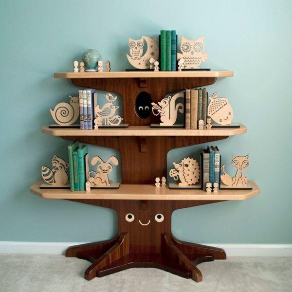 Holz bücherregal  Die besten 25+ Baum Bücherregal Ideen nur auf Pinterest ...