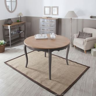 Les 25 meilleures id es de la cat gorie table ronde en - Comment decorer un plateau en bois ...