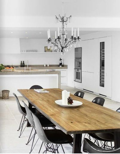 Love this dining table/chair combo