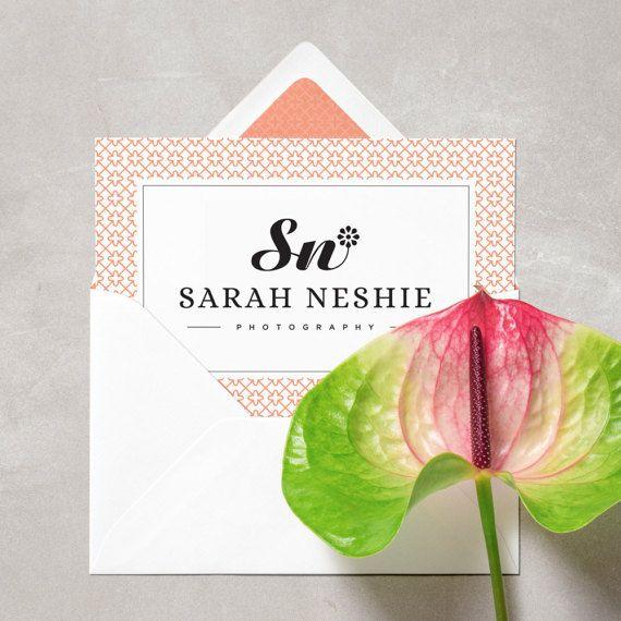 Floral Logo.Flower Blog Logo.Flower Logo.Elegant Logo.Classic