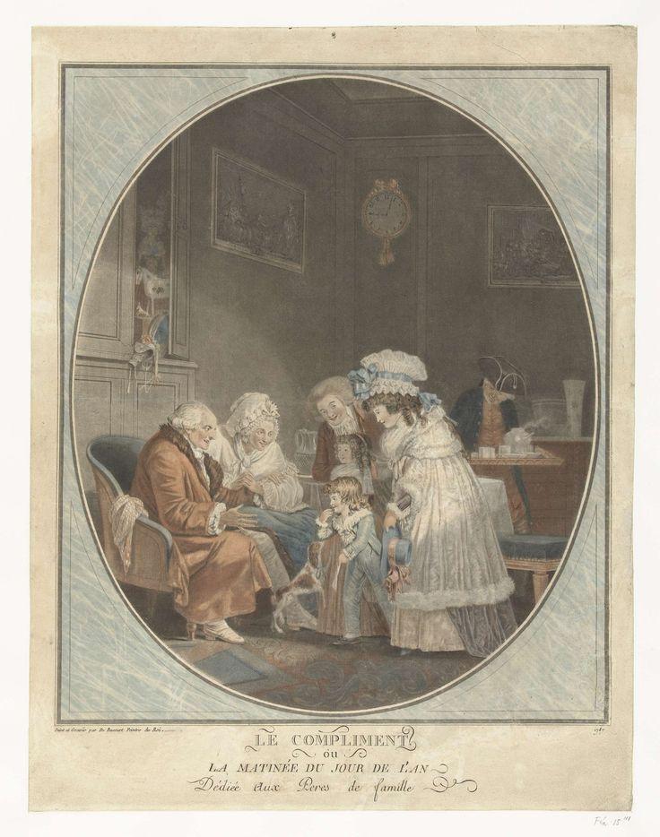 New Year's Day, Philibert-Louis Debucourt, 1787