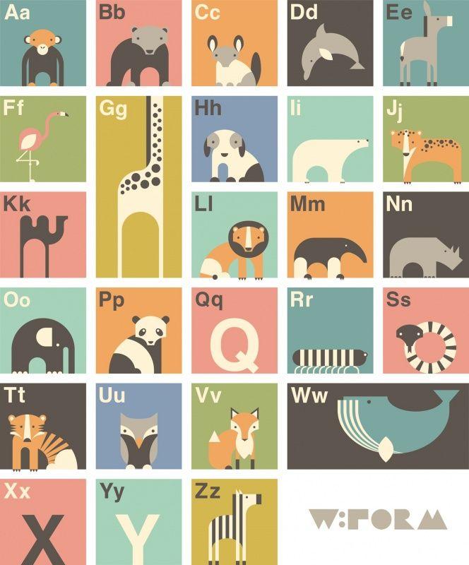 ABC poster met Nederlands alfabet - Poster (wform) | Wform | Gras onder je…