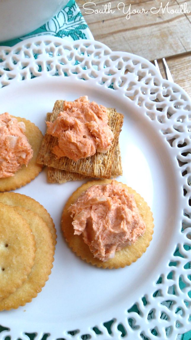 Easy salmon spread perfect to serve with crackers or crudité.