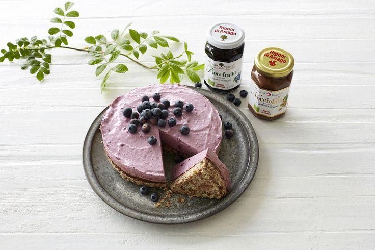 Blåbær-cheesecake med Nocciolata & nødder