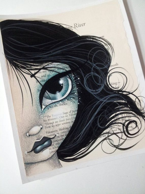 Check out this item in my Etsy shop https://www.etsy.com/listing/246010993/big-grey-eyes-girl-original-by-megan